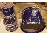 Yamaha Beech Custom drum shell pack - Sakae, Japan - Blueberry Lacquer