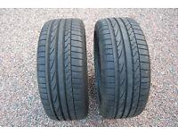 2 x Bridgestone Potenza Tyres Runflat 225 45 17 R17 6-7mm