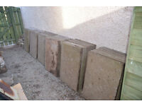 Large concrete garden slabs (900mm by 600mm). £3 each