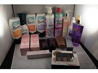 Job lot of 17 items - Hair,Skin Care,Nail Polish Products