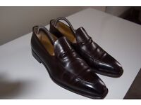 Hugo Boss cordovan leather loafers