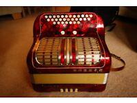 Accordion button box
