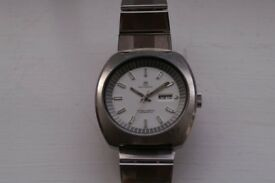 Bucherer automatic mechanical chronometer wristwatch - Swiss - '70s - Enamel dial?