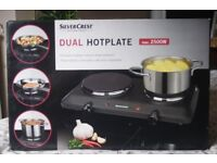 3 Kitchen items. Contact Grill, Dual Hotplate and Sandwich Toaster