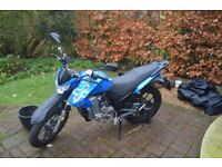 Lexmoto Assault 125cc with lock, alarm and cover