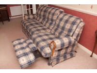 Fabric Reclining 3+1+1 Sofa, Chair and Rocker