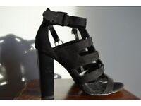 Gladiator style heeled sandals. Size 7