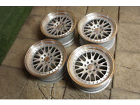 "Genuine Dare DCC 16"" Alloy wheels 4x100 & 4x108 MX5 Eunos Golf Civic Corsa Clio Ford Alloys"