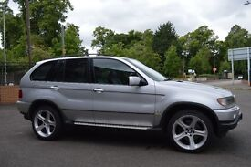 FOR SALE BMW X5 DIESEL AUTOMATIC 20 INCH SPORT ALLOYS 4NEW TYRES LEATHER INTERIOR SAT-NAV MOT !!!!