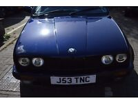 BMW 320i Auto Convertible E30 Blue Leather
