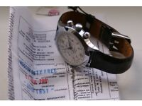 Poljot manual wind mechanical chronograph wristwatch - New old Stock - Russia - Circa '01 - Cal 3133