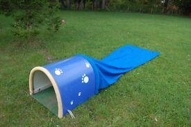 Dog Agility ~ Flat Canvas Tunnel / Soft chute