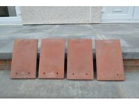 redland plain terracotta roof tiles approx 410 +roof ridging included