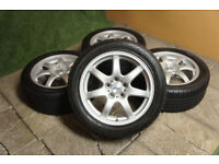"Genuine Alutec Spyke 17"" Alloy wheels & Winter Tyres 5x114.3 Snow Hyundai Kia Toyota Nissan Mazda"