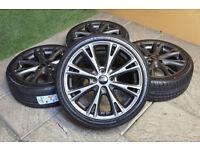 """Genuine FORD Fiesta 17"""" Alloy wheels & NEW Tyres 4x108 Titanium Zetec S Alloys MK7"""