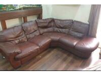 £50 leather corner sofa