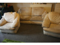 Free comfortable 3 Piece suite Sofa & 2 arm chairs Couch In Kingsdown need gone this weekend