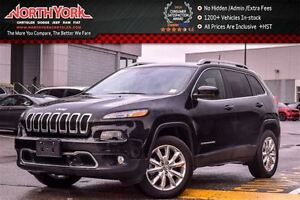 2016 Jeep Cherokee Limited|4x4|SafetyTec,Tech,Luxury Pkgs|Nav|Re