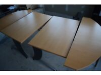 LARGE EXPANDING CONFERENCE DESK BRAND NEW