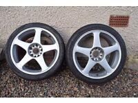 """Work Japan offset alloy wheels 16"""" + 17"""" alloys"""