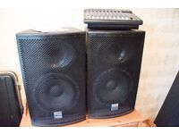 PA system with 2 Alto speakers