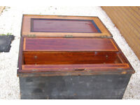 Large wooden toolbox with inlay inside