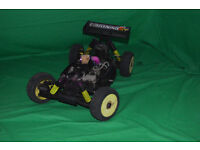 rc nitro buggy car hotbodies lightning 2rr mach.28 FAST