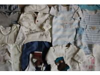 Baby boys bundle of clothes 0-6 months.