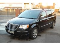 2008/08 Chrysler Grand Voyager - Black - AUTO - 7 SEATS / DVD PLAYERS / STOW & GO / SAT NAV