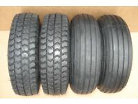 NEW 300 x 4 (265 x 85) BLACK Puncture Proof Mobility Scooter Tyres - Free delivery up to 40 miles
