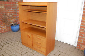 Teak Effect Cabinet - 3 Drawers