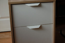 Two drawer chest of drawers