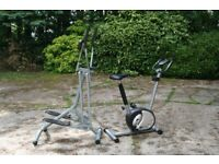 Exercise bike and cross trainer for sale