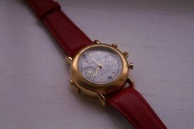 Poljot manual wind mechanical chronograph wristwatch- Russian -NOS '90s - Signed Time Chain - 3133