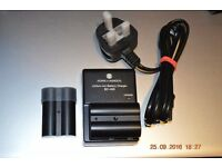 KONICA MINOLTA LI-ION BATTERY CHARGER WITH 2 BATTERIES