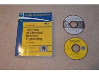 Elements of Chemical Reaction Engineering 4th Edition, by Scott Fogler, with CD Roms £25 ono