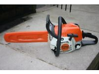 Stihl MS171 petrol chainsaw excellent condition