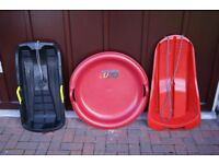 3 - Sledges / Toboggans - different types - excellent condition - be prepared for SNOW!