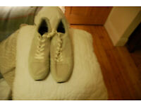 Religion Shoreditch size 10 cream lace up casual shoes