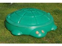 Used Little Tikes Turtle Sandpit - has cracked lid but this has been taped (children outgrown it)