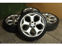 "Genuine FORD Focus ST 18"" Alloy wheels & Tyres 5x108 Focus MK2 Mondeo Transit Connect Alloys"