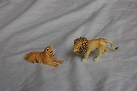 Vintage Britains Zoo Animals, 2 lions
