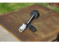 Twin 7pin to 13 pin caravan adaptor plug.
