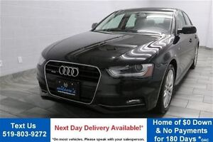 2015 Audi A4 2.0T QUATTRO! LEATHER! SUNROOF! HEATED SEATS! ALLO