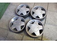 "Genuine Oscam Stella 15"" Alloy wheels 4x100 VW Golf MK1 MK2 Scirocco Stance Euro"