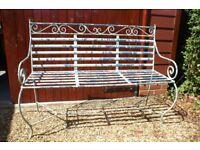 Antique vintage wrought iron garden bench
