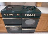 Creda COLONIAL Dual Fuel Double Oven unit - Circa 2002 - Green - PRICE DROP Available early march