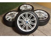 """Genuine BMW 1 Series M Sport 17"""" Allow Wheels & Tyre 5x120 3 E36 E46 Z3 Z4 207M E81"""
