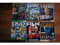 Magazine clear out: Empire, Total Film, DVD Review, Death Ray Sci-fi now, Overkill.