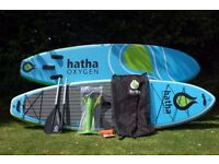 HATHA OXYGEN 10'6 INFLATABLE ISUP PADDLE BOARD WITH PADDLE PUMP BAG ETC £450